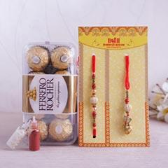 Ferrero Rocher with Bhaiya Bhabhi Rakhi