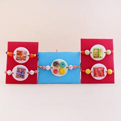 Set of Five Kids Foodie Rakhi