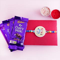 Doraemon Kids Rakhi with Chocolates
