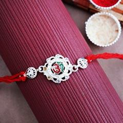 Auspicious Silver Rakhi - Send Silver Rakhi Online