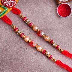 Set of Two Pearl Rakhis - Family Rakhi Sets