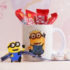 Minion Rakhi with Mug N Chocolates