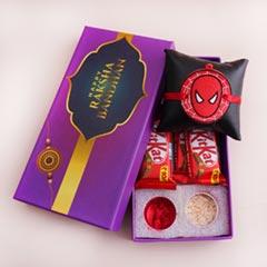 Spider Man Rakhi with Chocolates in Signature Box - Rakhi with Chocolates