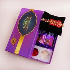 Signature Box with Chocolates N Bro Rakhi - Rakhi with Chocolates