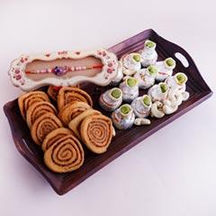 Designer Rakhi with Haldiram Sweets