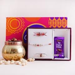 Rakhi in Signature Box with Cadbury Celebration