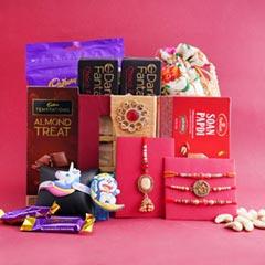 Complete Rakhi Gift Hamper for Family - Premium Rakhis