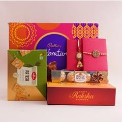 Delightful Bhaiya Bhabhi Rakhi Gift Hamper - Premium Rakhis