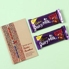 Cadbury Fruit N Nut And Designer Rakhi Combo