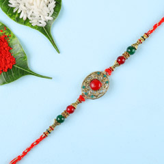 Designer Red Stone Rakhi