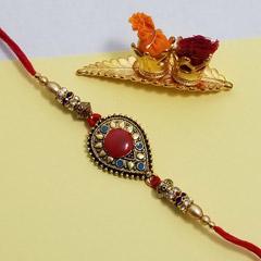 Designer Ethnic Rakhi - Send Rakhi to New York