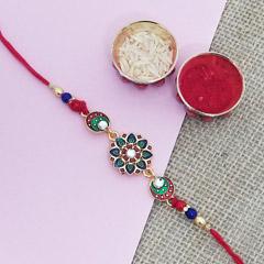 Designer Chandramukhi Rakhi - Send Rakhi to New York