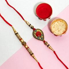 Designer Rakhi pair - Send Rakhi to New York