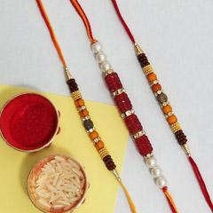 Three ethnic rakhi