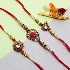 Three designer rakhi