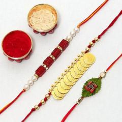 Three Shubh rakhi