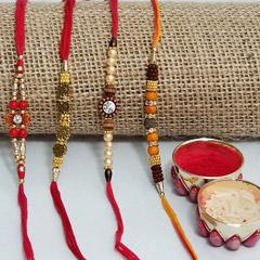 Four traditional rakhi