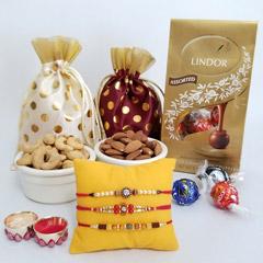 Lindor Triple Rakhi set