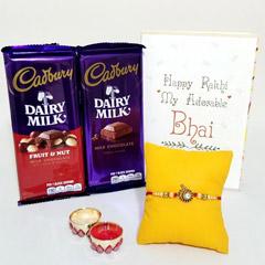 Single Rakhi with Cadbury Duo
