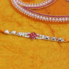 Dazzling Silver Stones Rakhi