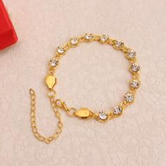 Golden Bracelet Rakhi with Studded Stones