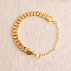 Unique golden Bracelet Rakhi
