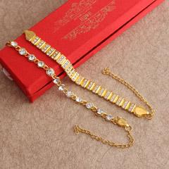 Stylish Golden Bracelet Rakhi Set - Worldwide Rakhi Delivery Outside India