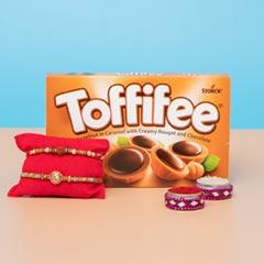 Sizzling Rakhi Set with Chocolate  For UK