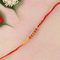 Five Rudraksha Fancy Rakhi For UK