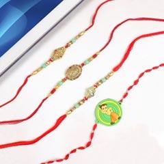 Exquisite Designer Set of Four Rakhi  For UK