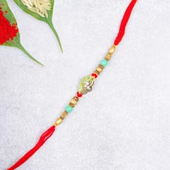 Elegant Diamond Finish Moti RakhiFor UK