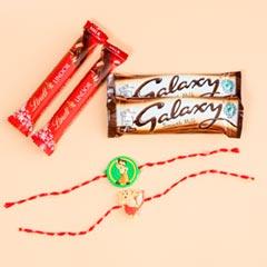 Beautiful Kids Rakhis with Chocolate Bars For UK