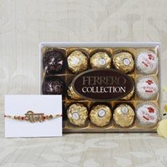Veera Rakhi With Ferrero Rocher Hamper For UK