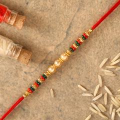 Traditional Pearl Studded Mauli Rakhi - Send Rakhi to UAE