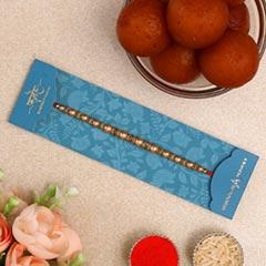 Pearl Designer Rakhi & Gulab Jamun Tin