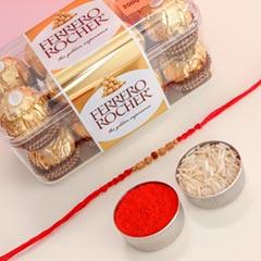 Rudraksh Rakhi With Ferrero Rocher