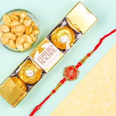 Veera Rakhi With Ferrero Rocher & Cashews
