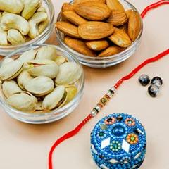 Pearl Rakhi With Mix Dryfruits