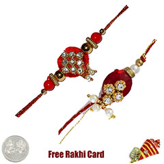 Zardosi Rakhi Set of 2